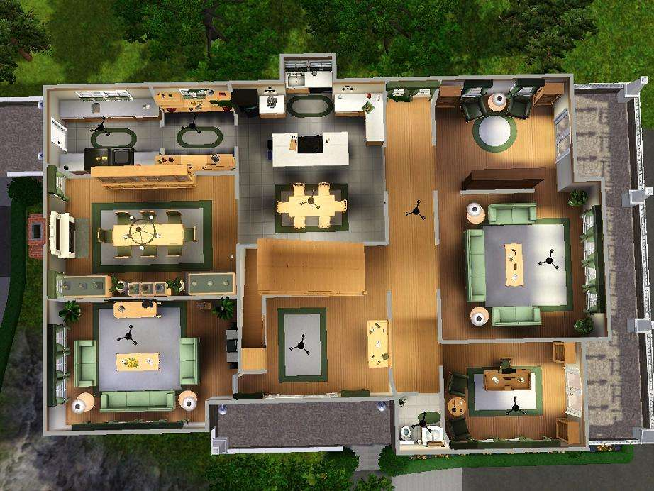 Sims House Blueprints Two Story Views