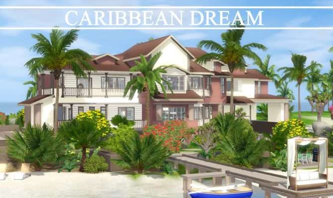 Sims House Building Caribbean Dream Speed Build