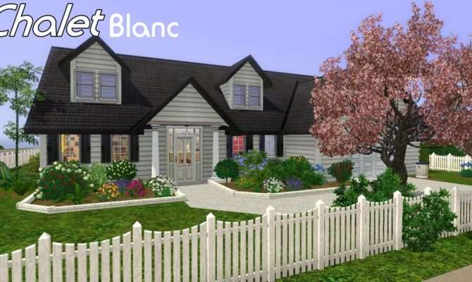 Sims House Building Chalet Blanc Youtube