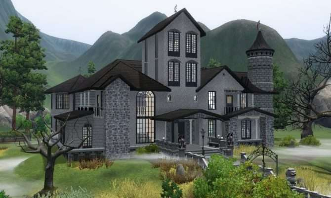 Sims House Building Haunted Castle Youtube