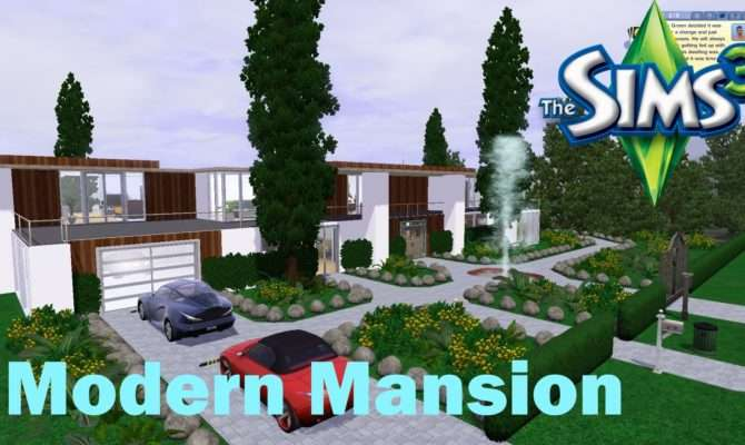 Sims House Building Modern Mansion Youtube