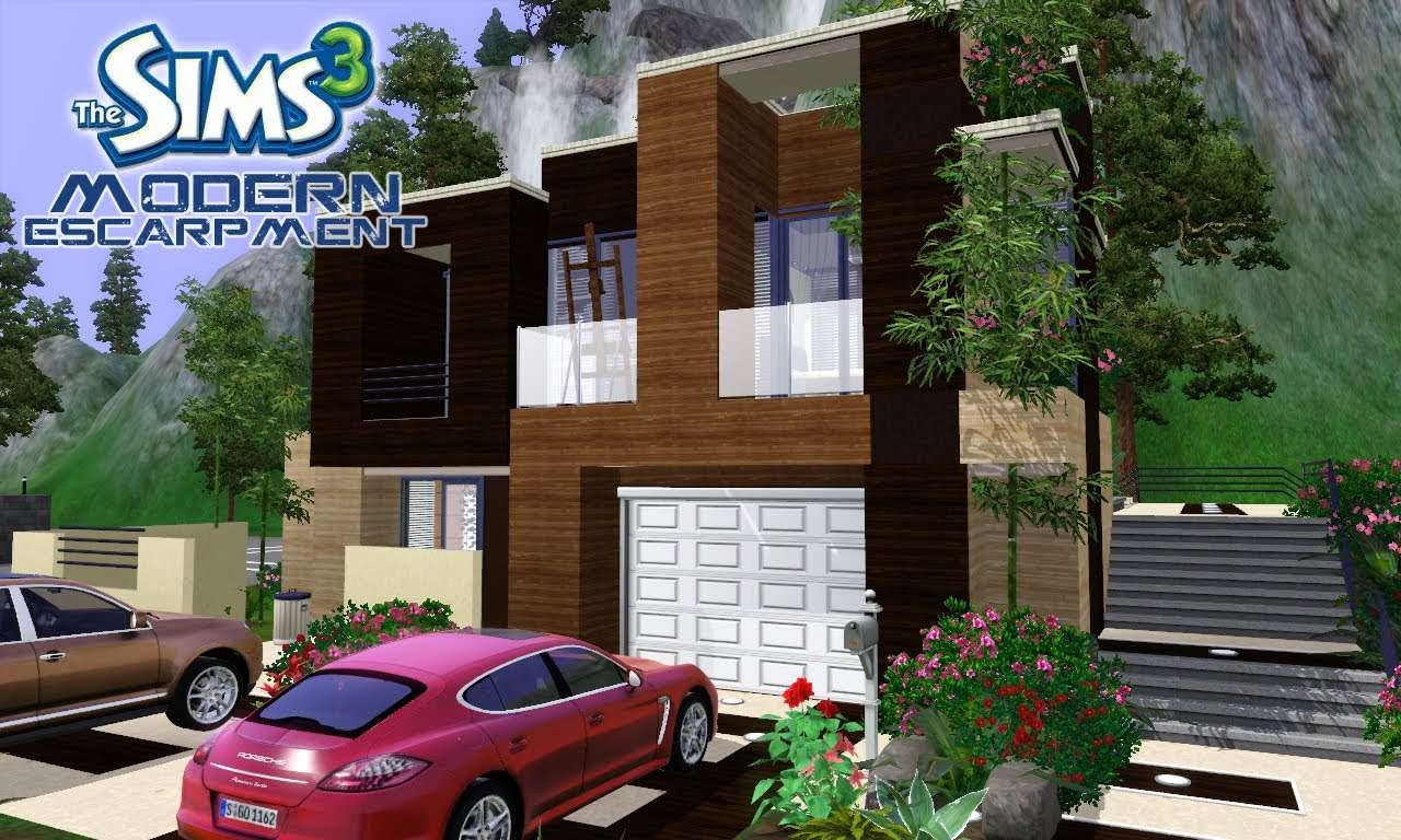 Sims House Designs Modern Escarpment Youtube