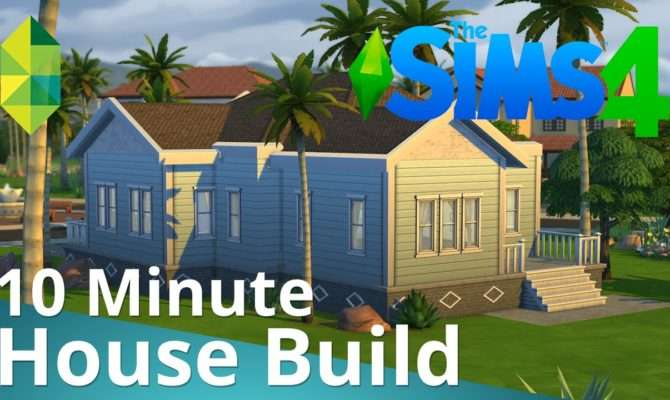Sims Minute House Build Youtube