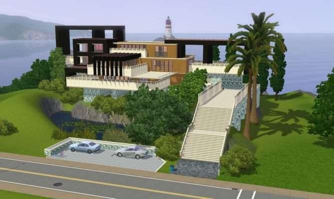 Sims Modern Hillside Home Ramborocky Watch Designs Interfaces