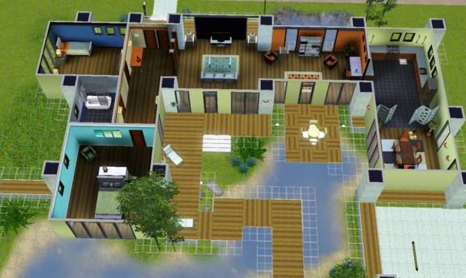 Sims Modern House Floor Plans Mansion Friv