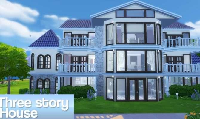 Sims Three Story House Youtube