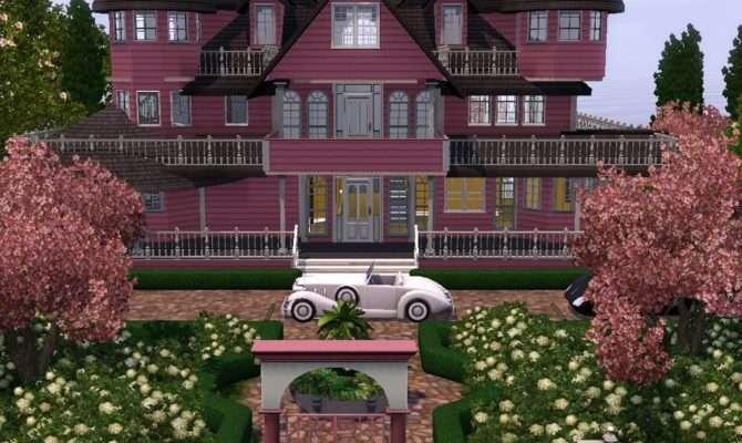 Sims Victorian House Garden Style Design