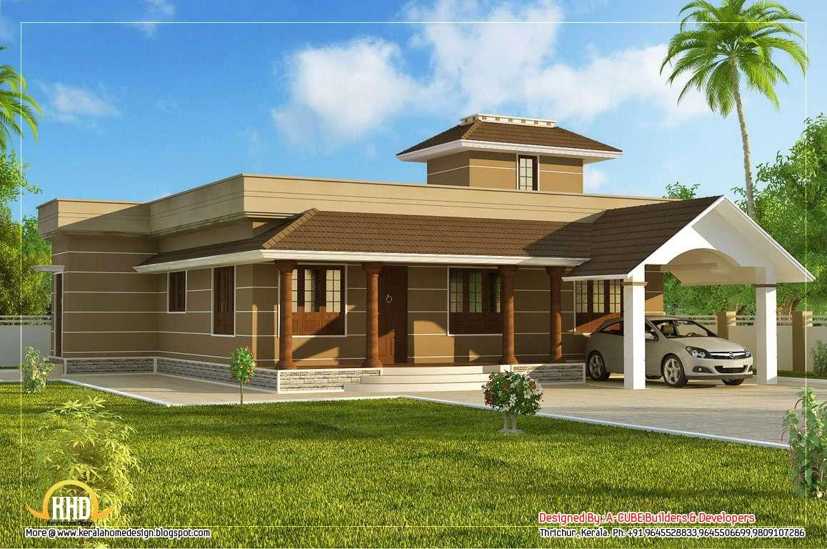 Single Floor Home Design Square