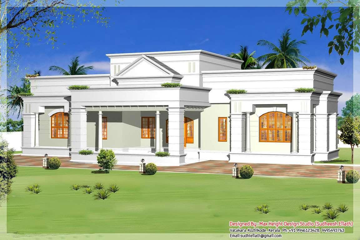 Single Floor House Designs Keralahouseplanner Home