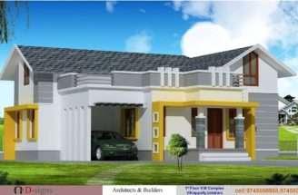 Single Floor Kerala House Elevation