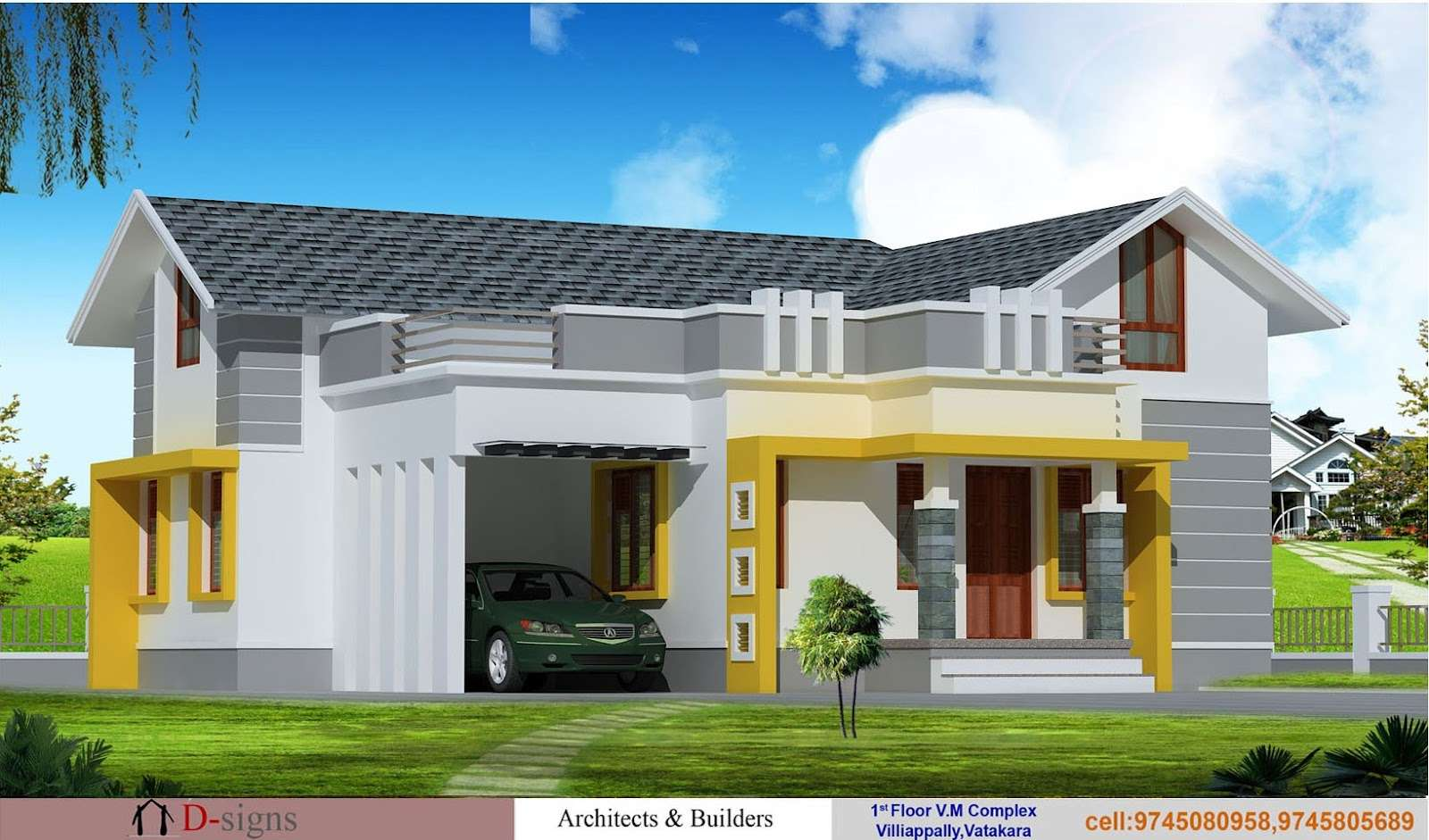 Single Floor Kerala House Elevation