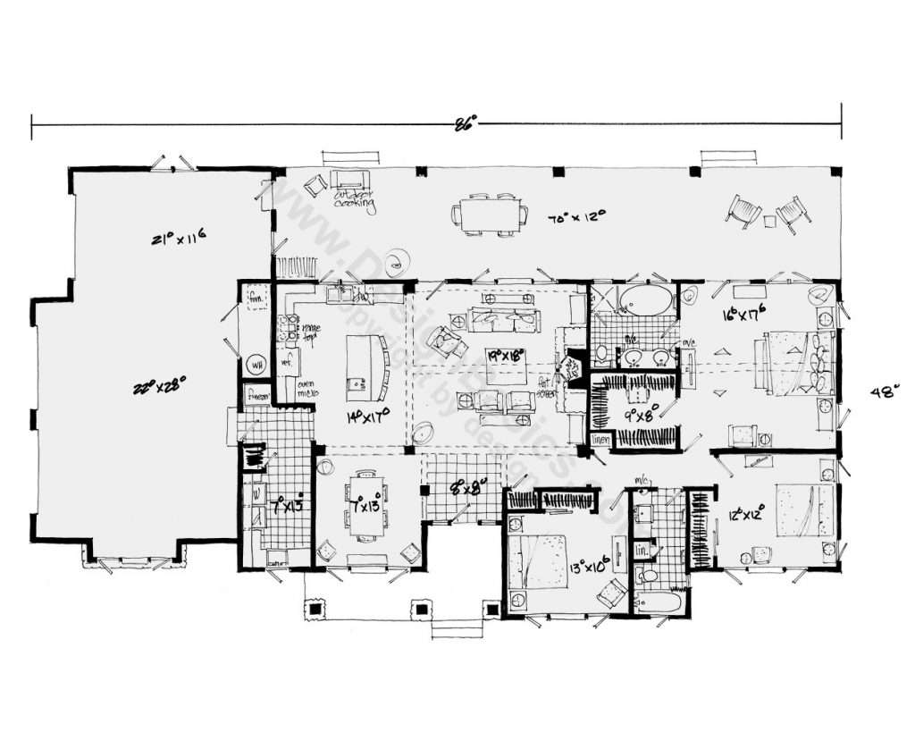 Single Level Ranch House Plans Elegant Story