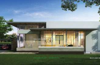 Single Storey House Perspective Spec Plan Stories Floor Area