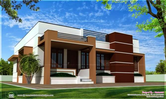 Single Storied Contemporary House Kerala Home Design