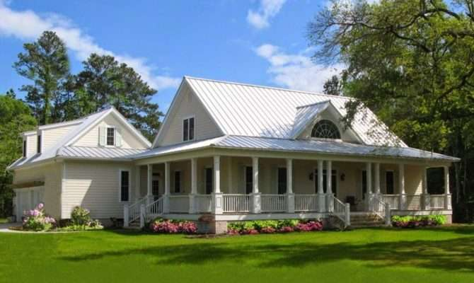 Single Story Country Home Plans Wrap Around Porches