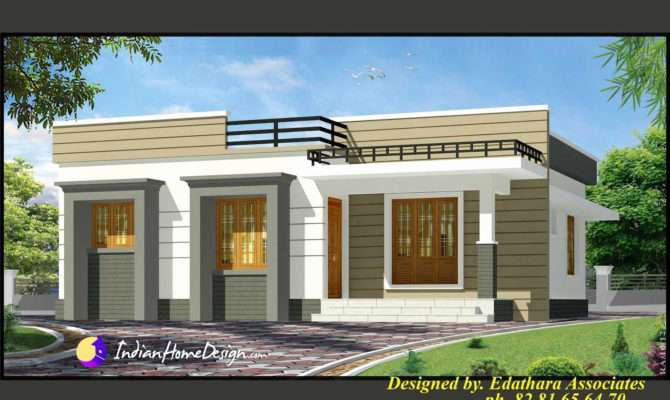 Single Story House Front Design Lovely Flat Roof Small