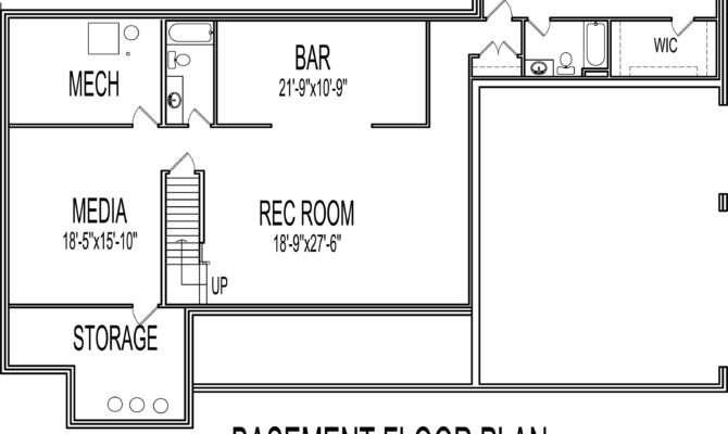 Single Story House Plans Basement Home Design