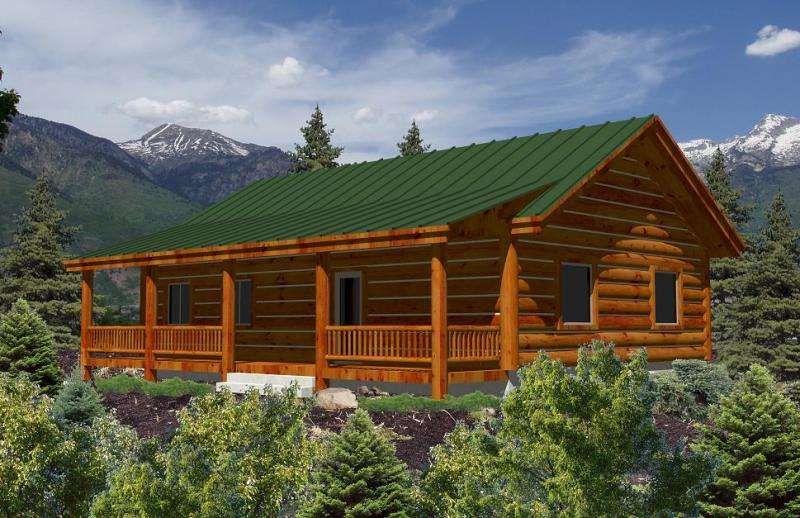 Single Story Log Cabin Homes