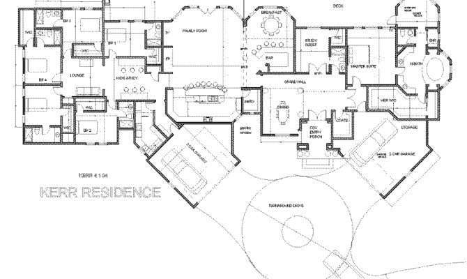 Single Story Luxury House Plans Small Home Blueprint