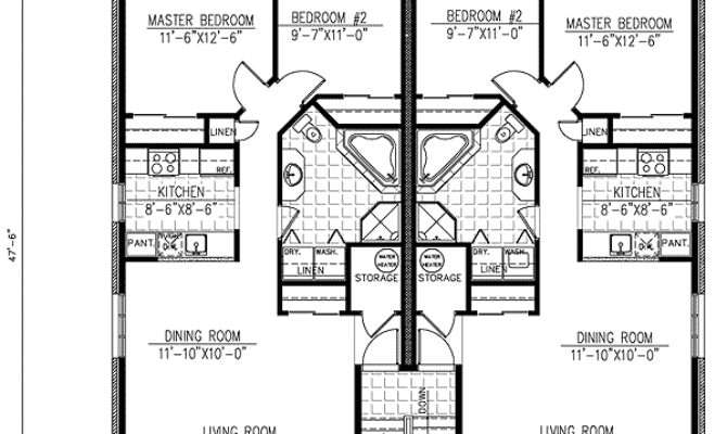 Six Plex Multi Home Plan Floor