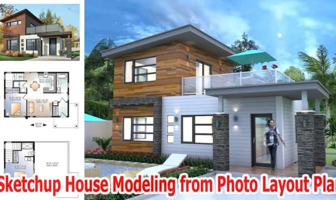Sketchup House Modeling Layout Plan Youtube