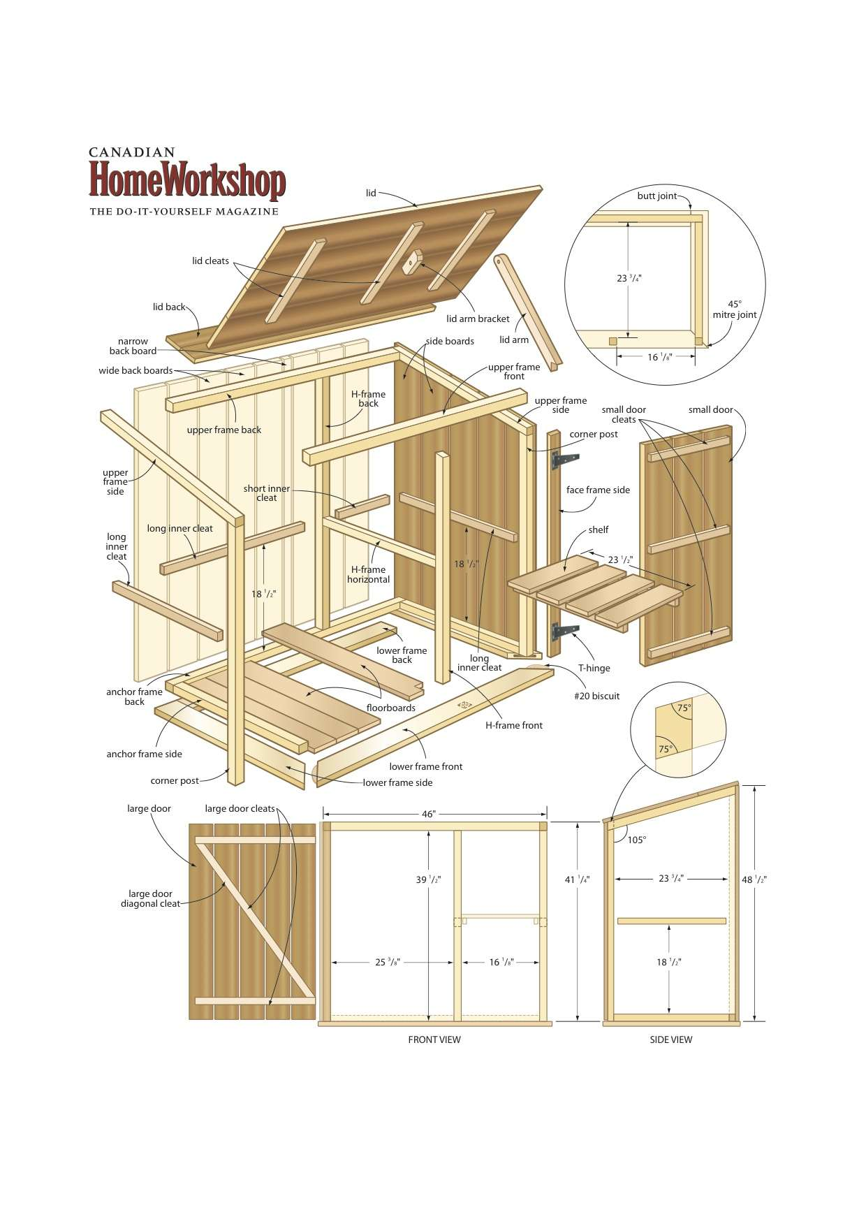 Slanted Roof Plans