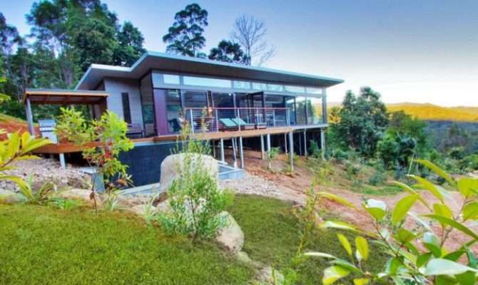 Sloping Block Design Hillside House Dad Pinterest