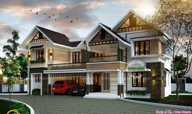 Sloping Roof Cute Home Plan Kerala Design Floor