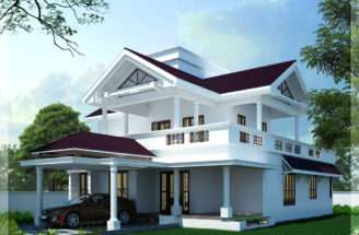 Sloping Roof Home Design Shell Building Designers Thrissur Kerala