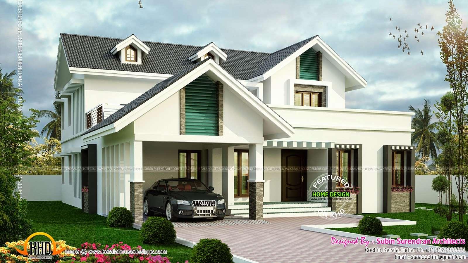 Sloping Roof House Dormer Windows Modern Interior Designs