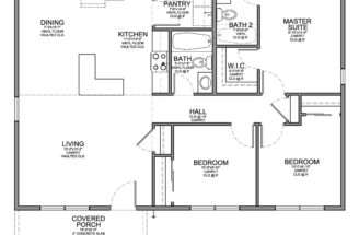 Small Bedroom House Floor Plans