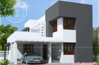 Small Budget Modern House Feet Kerala Home Design