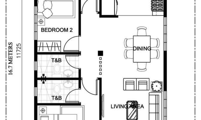 Small Bungalow Home Blueprints Floor Plans Bedrooms