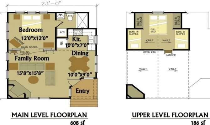 Small Cabin Floor Plans Loft Modular Homes