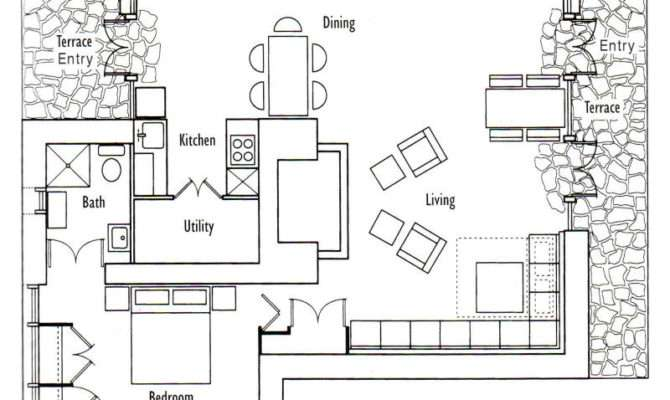 Small Cabin Open Floor Plans Cottage Plan
