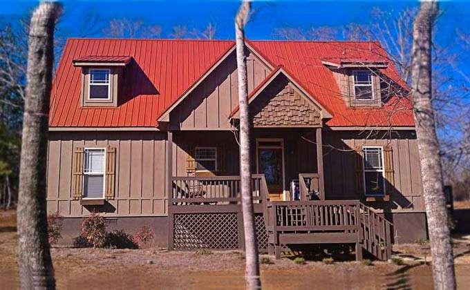 Small Cabin Plan Screened Porch