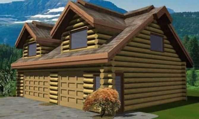 Small Cabin Plans Log Garage Home