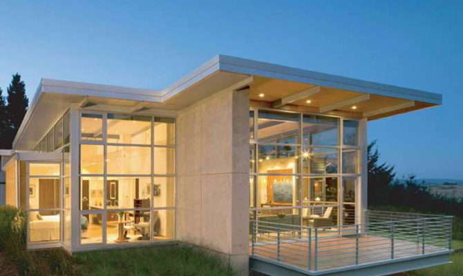 Small Contemporary House Plans Dominating Glass