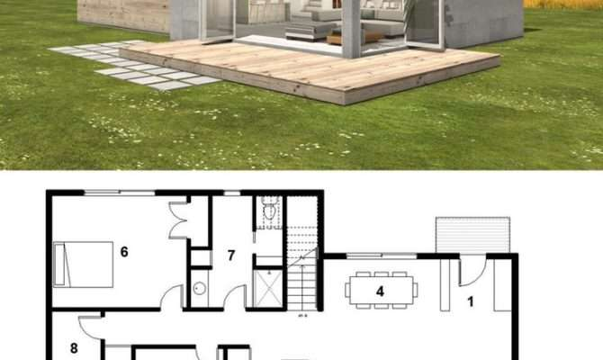 Small Contemporary House Plans Homes Floor