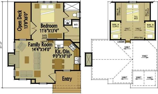 Small Cottage Floor Plan Loft Designs
