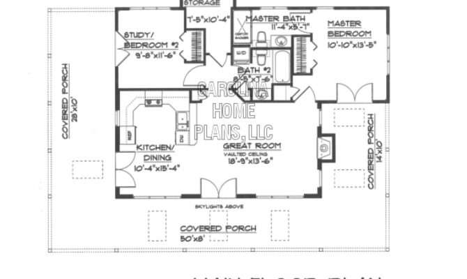 Small Country Guest Cottage House Plan Ams