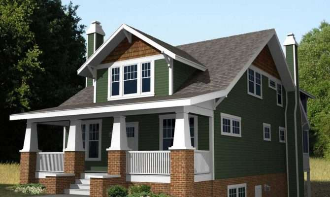 Small Craftsman Style Home Plans Green Wall Paint