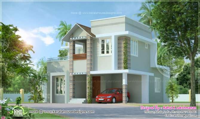 Small Cute Villa Square Feet Home Kerala Plans