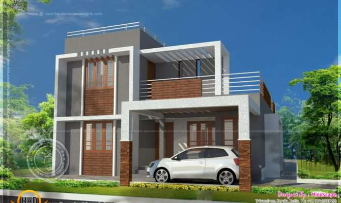 Small Double Storied Contemporary House Plan Kerala Home Design