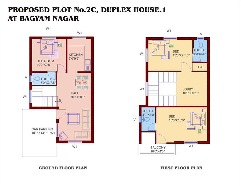 Small Duplex House Plans Home Designs Building