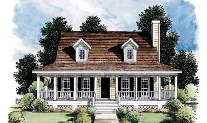 Small Farmhouse Plans Porches Simple Unique