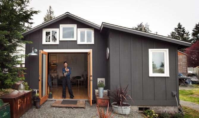 Small Garage Into Square Foot Tiny Dream House Mini