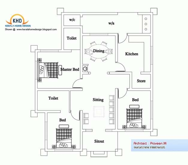 Small House Design Plan Kerala Style Floor Plans