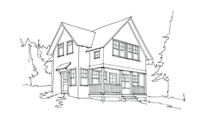 Small House Drawing Pixshark Galleries
