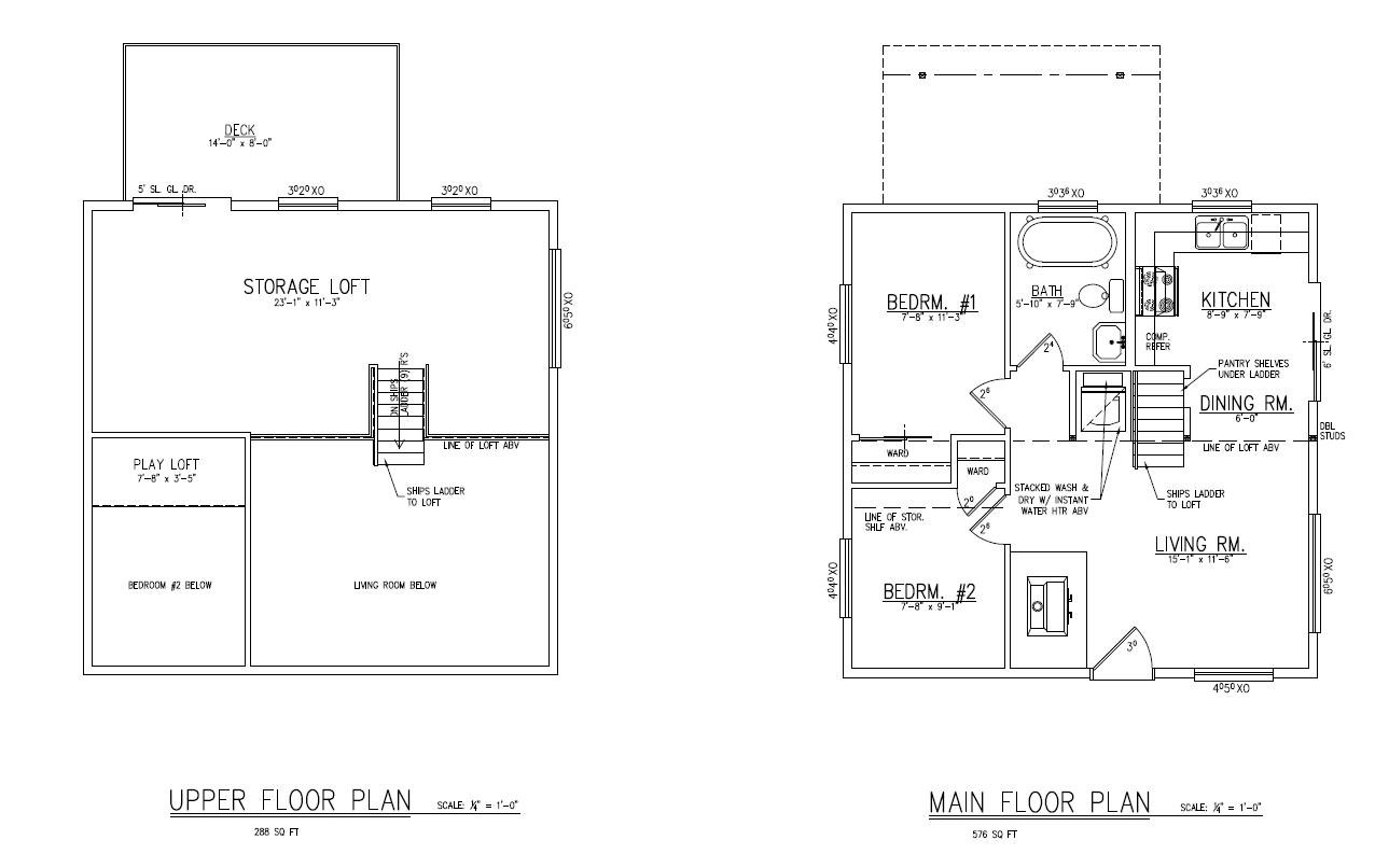 Small House Floor Plans Loft